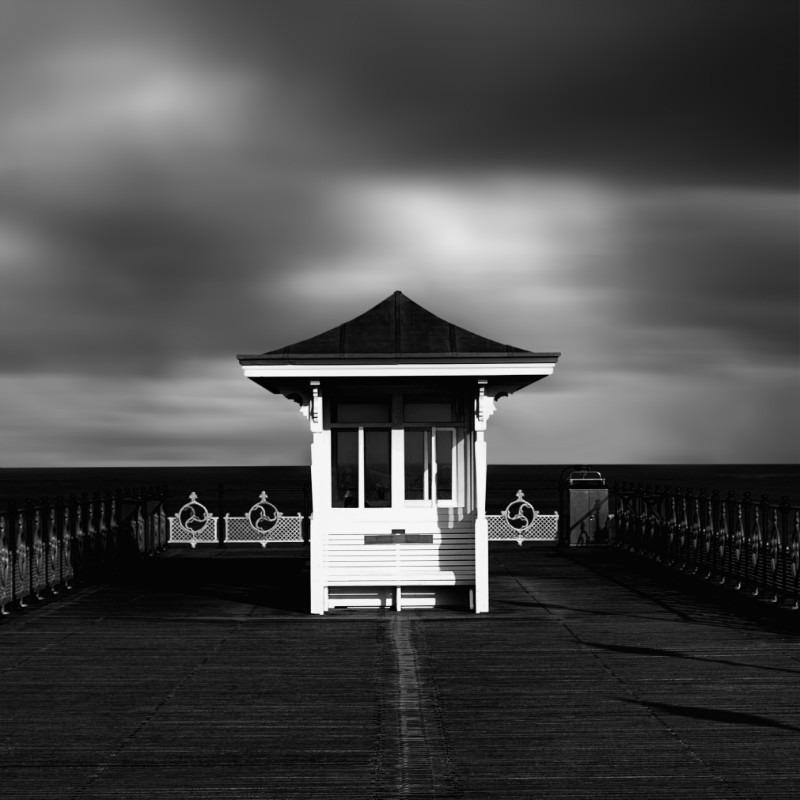 Waiting. - Square minimal black & white .