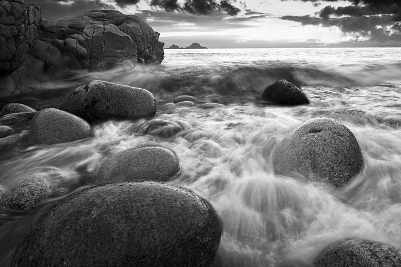 Coastal Impact . - Black & White