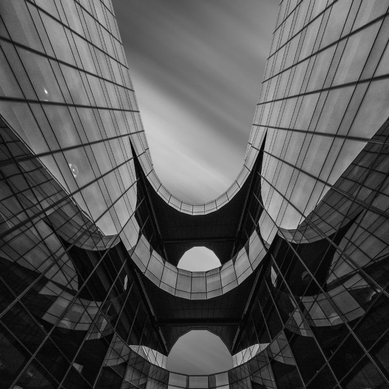 Batmans Barricade. - Square minimal black & white .