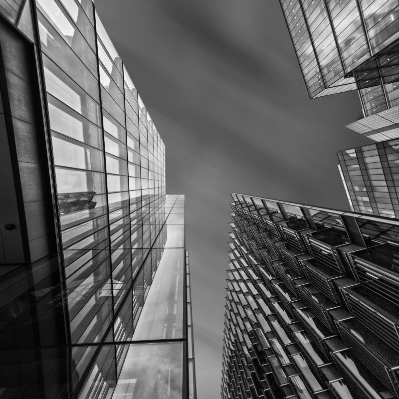 Shapes In The Sky - Square minimal black & white .