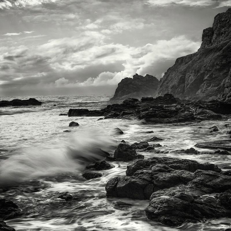 Untamed Cornwall - Square minimal black & white .