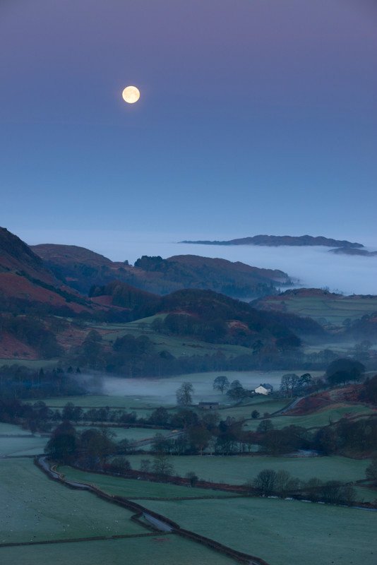 Moonset over Eskdale - Latest Work