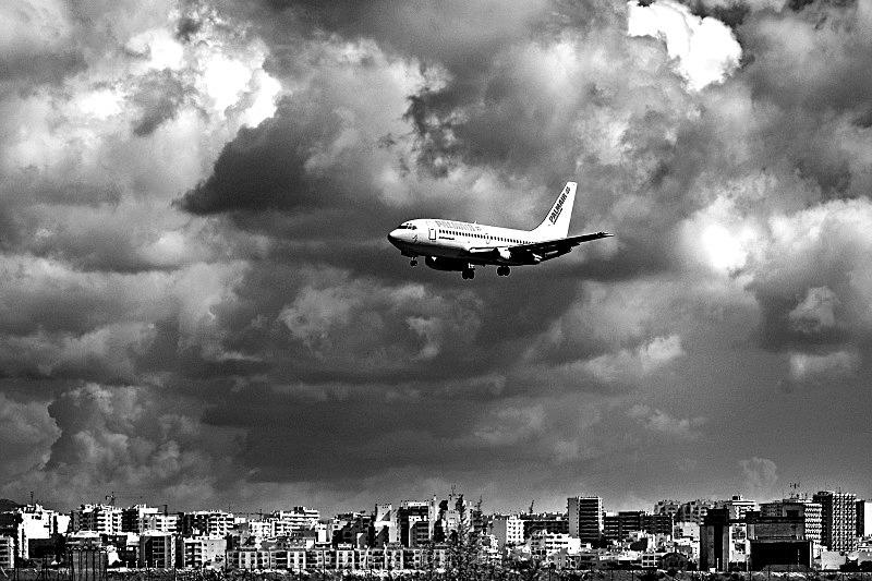 Landing at Faro - Black and White