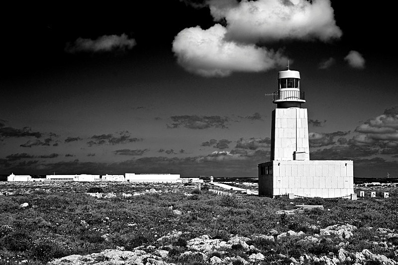 Sagres Lighthouse - Black and White