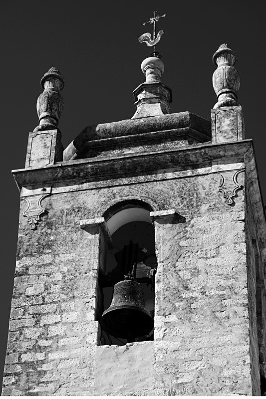 Bell Tower - Black and White