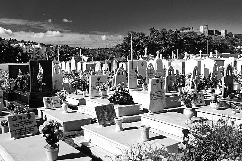 Silves Cemetery - Black and White