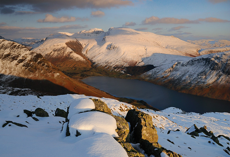 Snowbound Scafells - Mountains and Fells