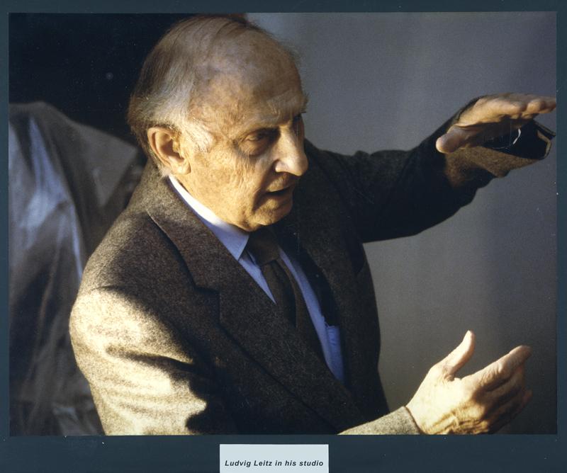 Ludvig Leitz in his studio - Early days