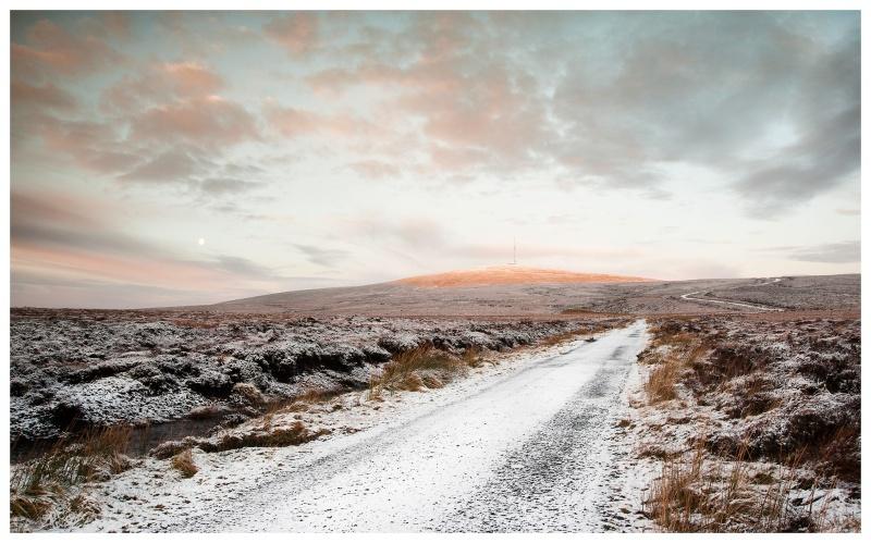 Winter Moon at Sunrise, Kippure, Co Wicklow - Leinster's Wild Landscape