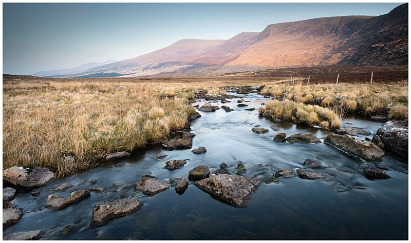 Evening Light on the Conor Pass, Co Kerry - Munster's Wild Landscape