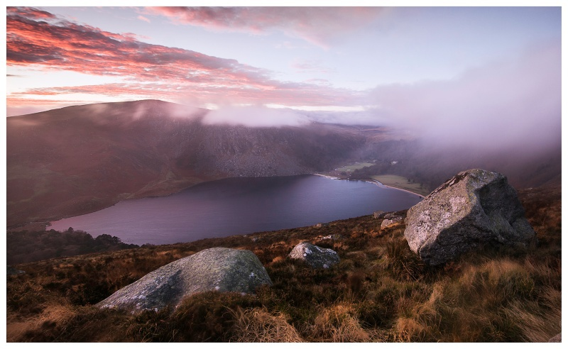 Winter Sunset, Lough Tay, Co Wicklow - Leinster's Wild Landscape