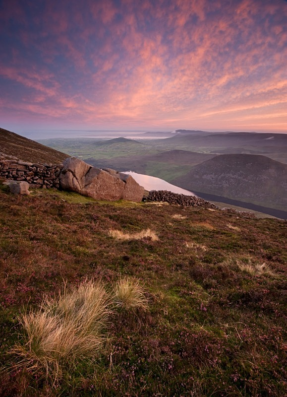 The Mourne Wall & Silent Valley from Slieve Binian, Co Down - Ulster's Wild Landscape
