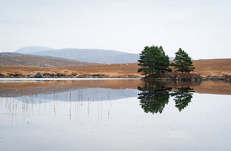 Reflections, Meenlecknalore Lough, Co Donegal - Ulster's Wild Landscape