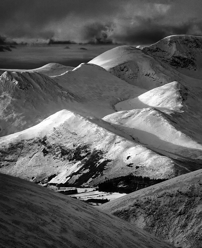 Lakeland fells in winter coat photography course