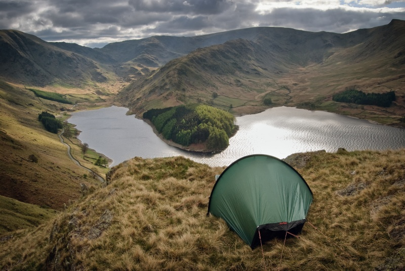 Photography wild camp above mardale in the Lake District