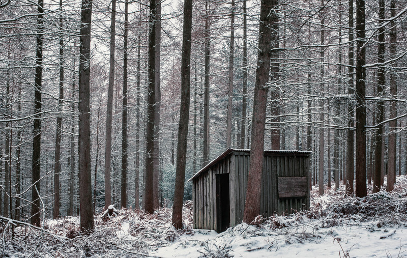 Woodsmans Hut in Winter