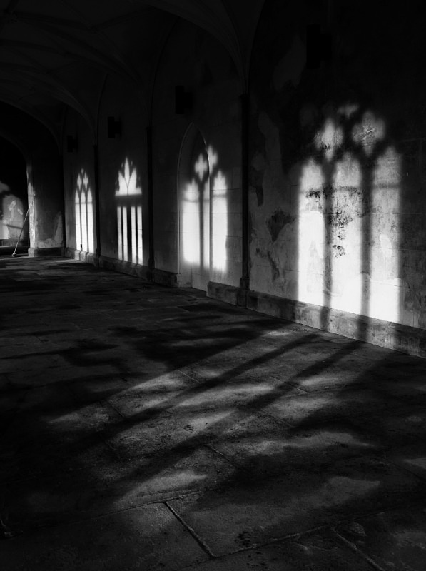 The old Gallery, Lowther Castle - Monochrome