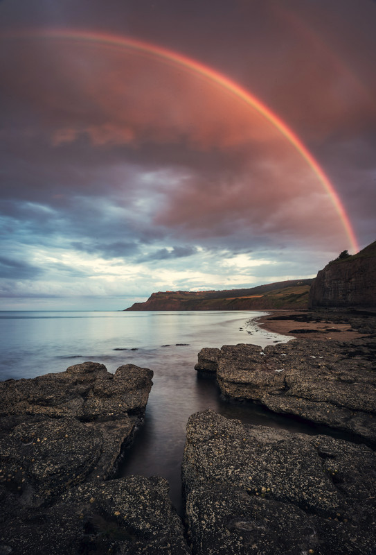 Rainbow sunset, Robin Hoods Bay - Other Locations