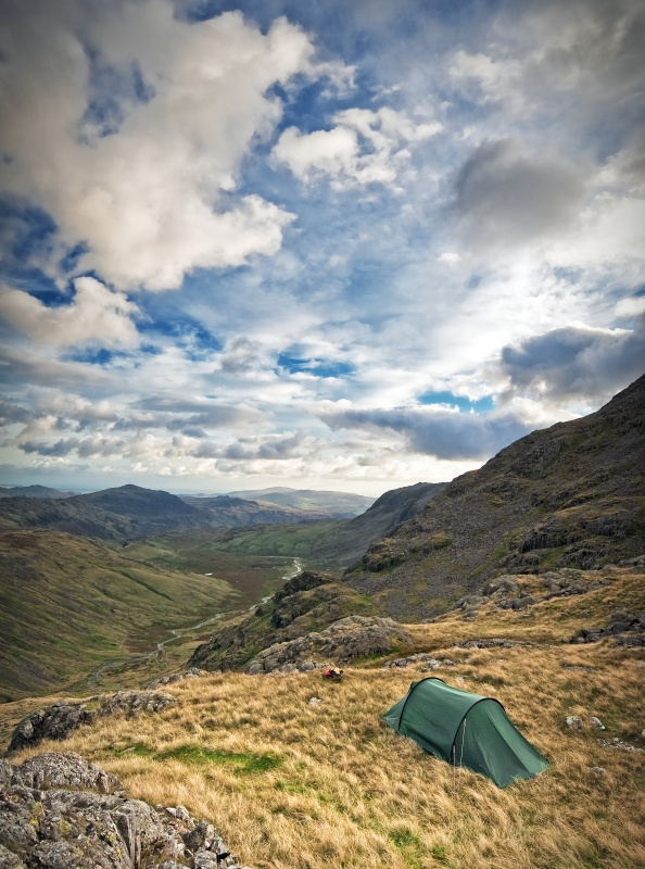 Esk pike and the scafells photography wild camp