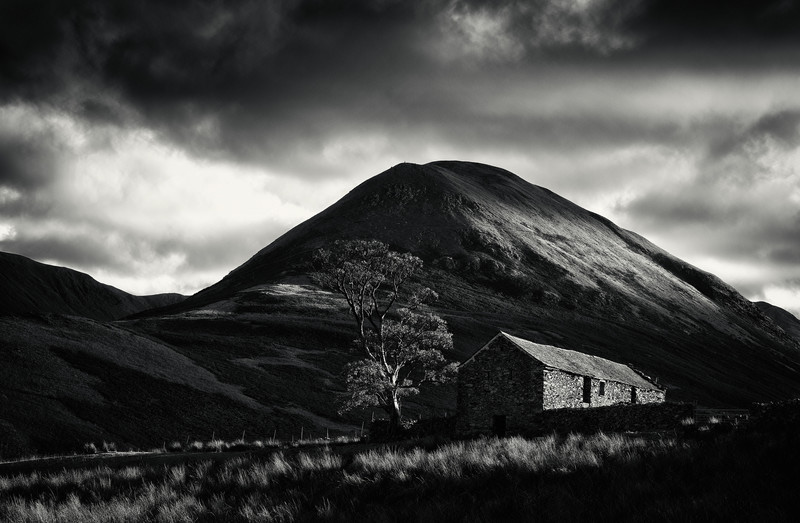 The Nab in black and white, Martindale, Lake District