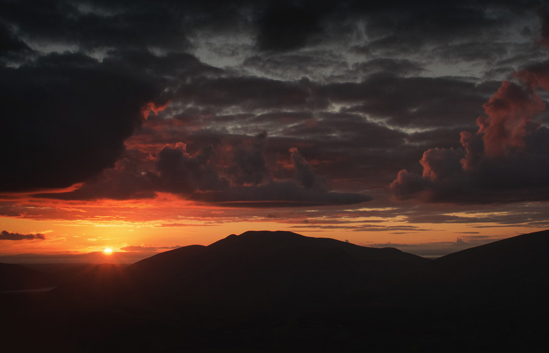 Sunset over Skiddaw - Lake District