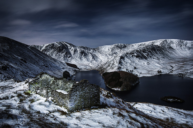 Lake District photography courses, workshops and  tours Moonlight in Mardale