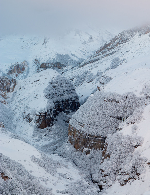 Winter landscape photography at Shahdag