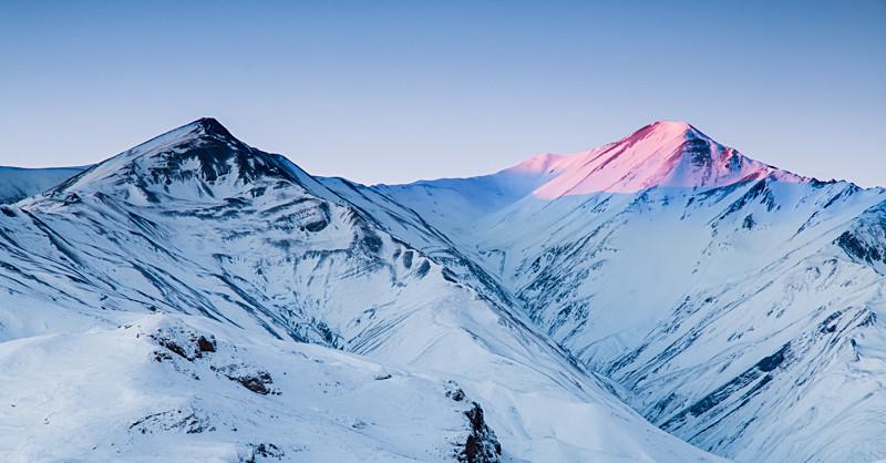 Azerbaijan winter mountain photography