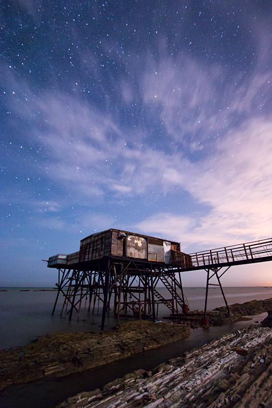 A fishermans hut beneath the stars