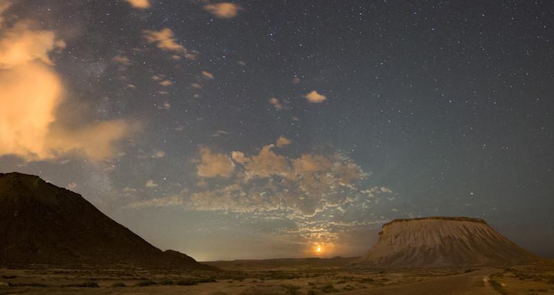 Moonbeams in the desert - Azerbaijan