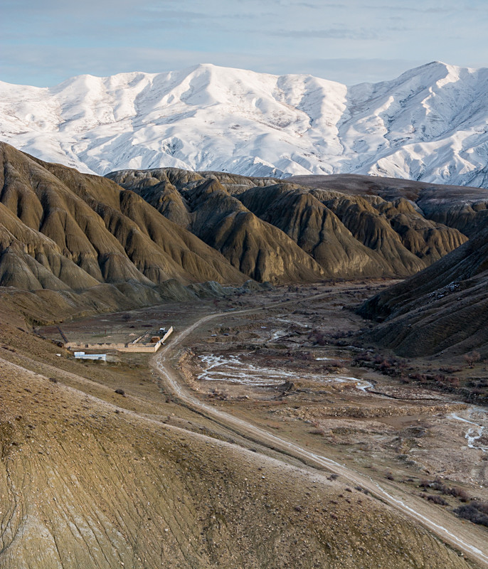 Azerbaijan winter landscape photography Xizi