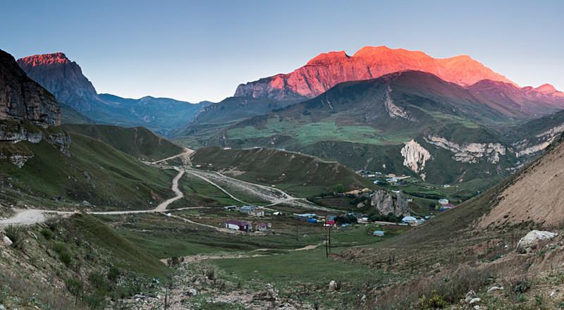 Dawn light on Mount Shahdag