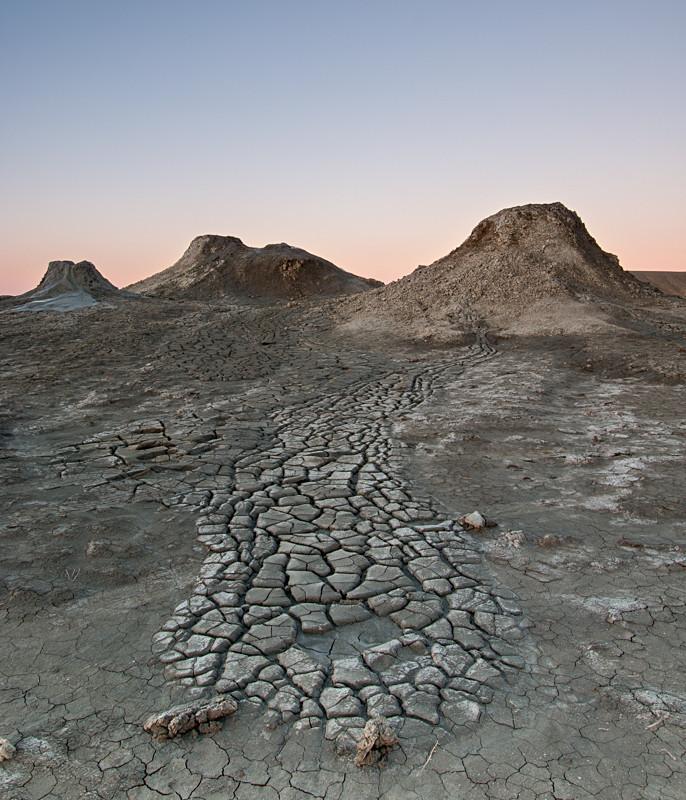 Dried mud patterns in Qobustan
