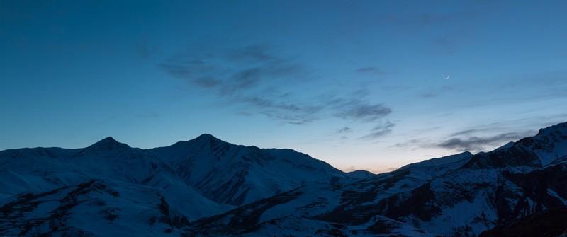 Caucus Moonset - Azerbaijan