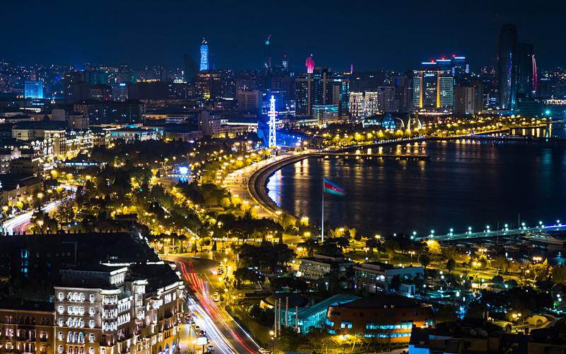 Baku Bay Light Show - Azerbaijan