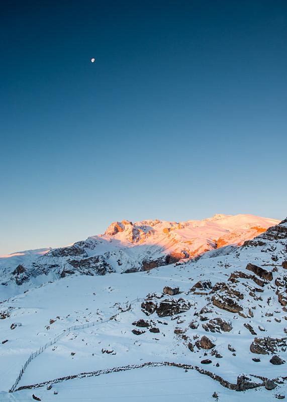 Azerbaijan winter mountain landscapes