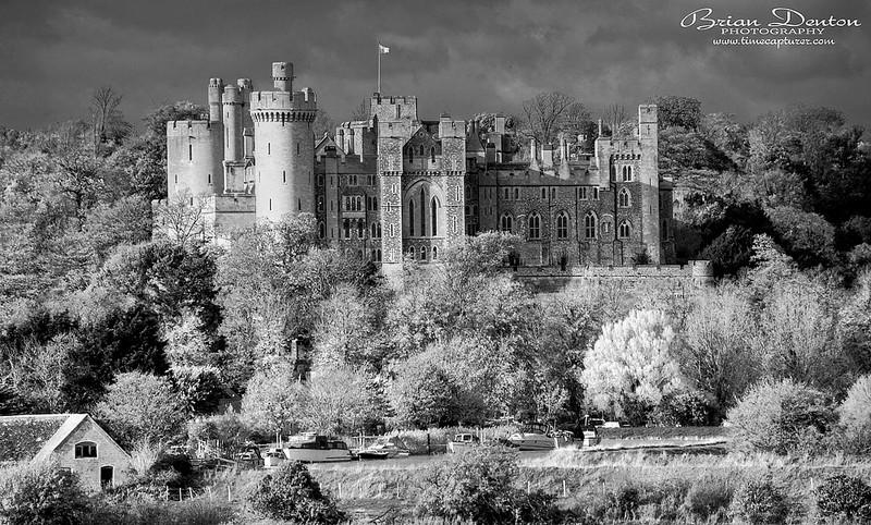 Castle By The River - Monochrome (Black & White)