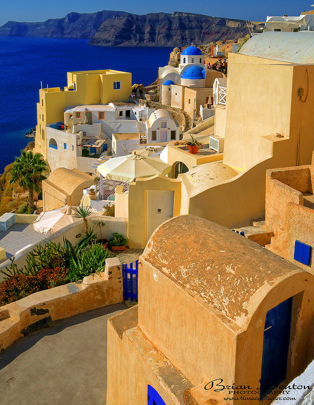 Blue Domes And Doors - Greek Islands