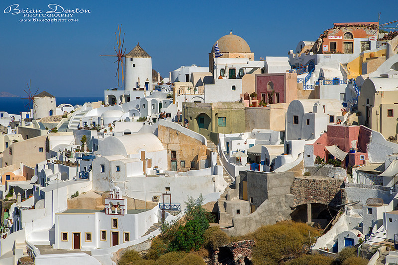 Oia Windmills - Greek Islands