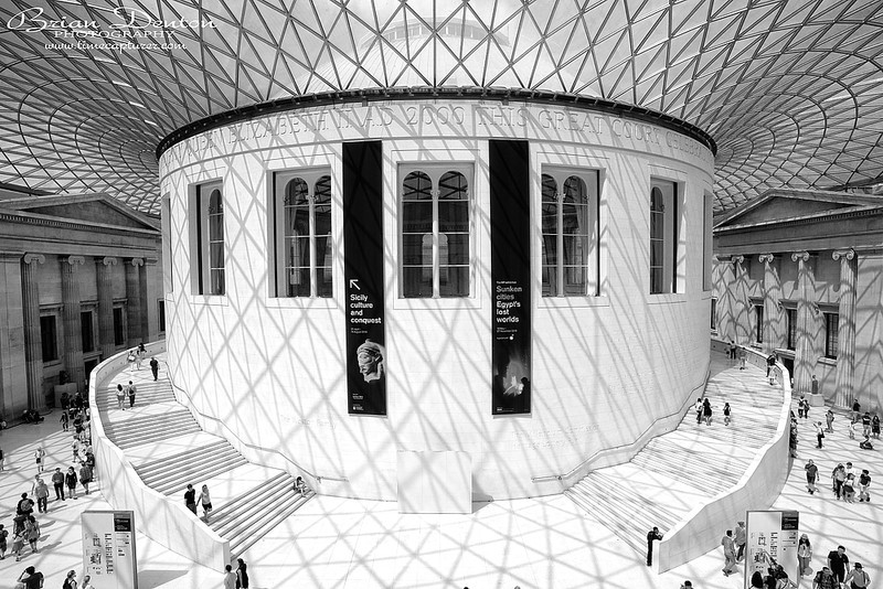 British Museum Great Court MONO - Monochrome (Black & White)