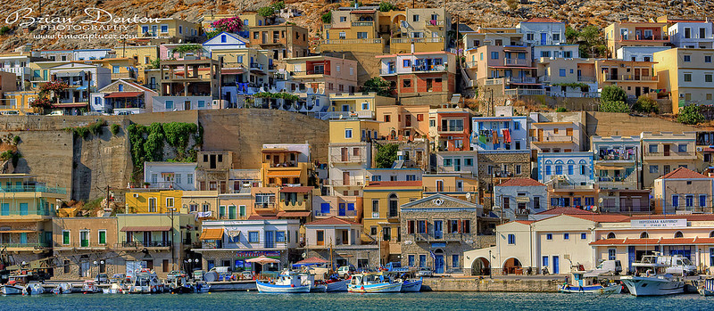 Coloured Walls - Greek Islands
