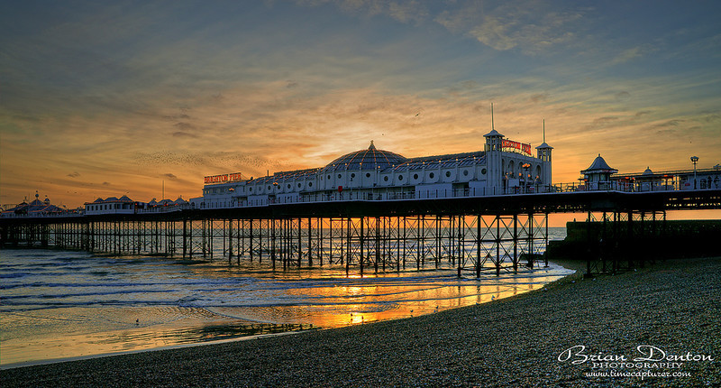 Palace Pier Sunset - Sussex & Brighton