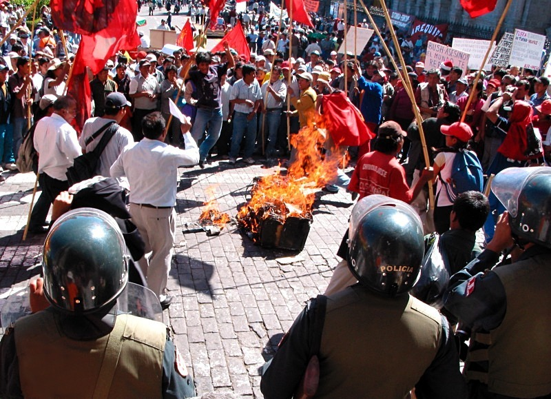 Civil unrest, Araquipa - Editorial/Features