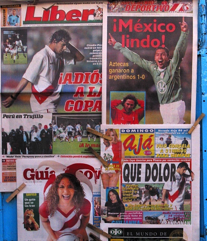 News hoardings, Lima - Sport
