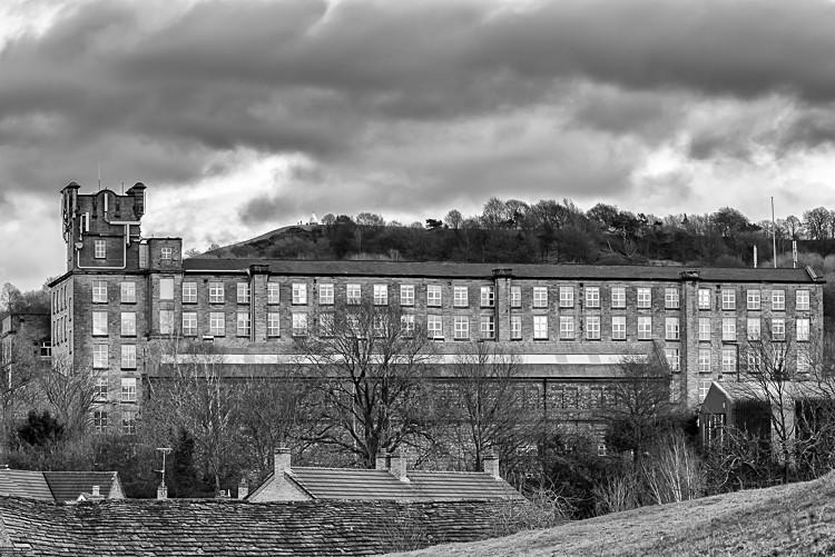 Adelphi Mill and White Nancy, Bollington (1) - Macclesfield Mills