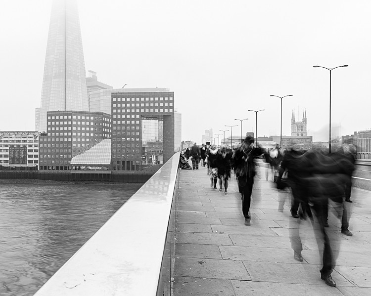 Commuters on London Bridge (1) - Street Photography
