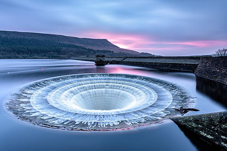Down the plug hole, Ladybower Reservoir (6) - Ladybower Reservoir