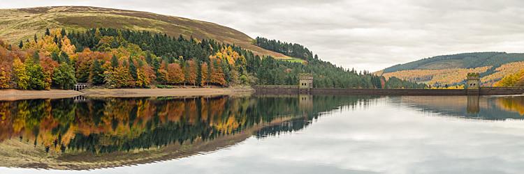 Derwent Reservoir panorama (3) - Derwent Reservoir