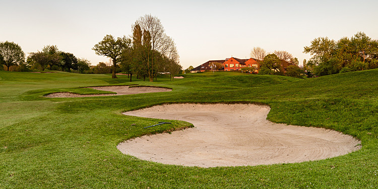 Bunker on the 9th fairway - The Tytherington Club