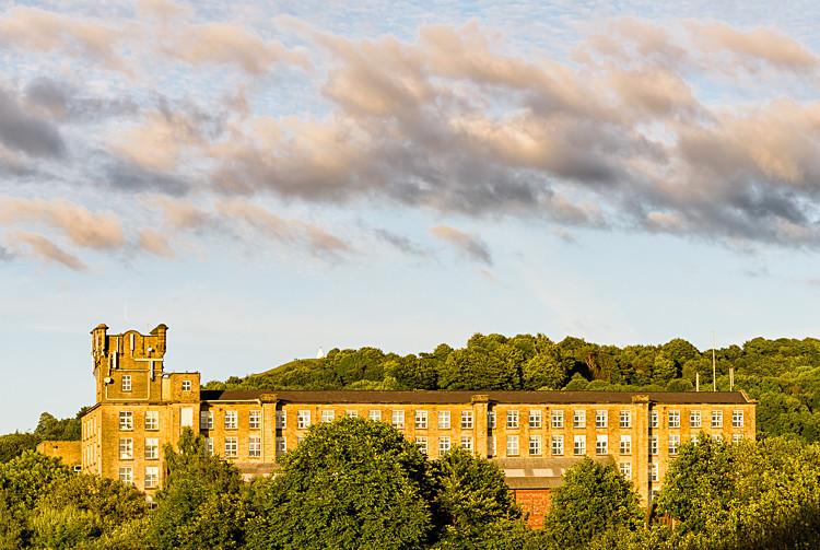 Adelphi Mill and White Nancy, Bollington (2) - Macclesfield Mills